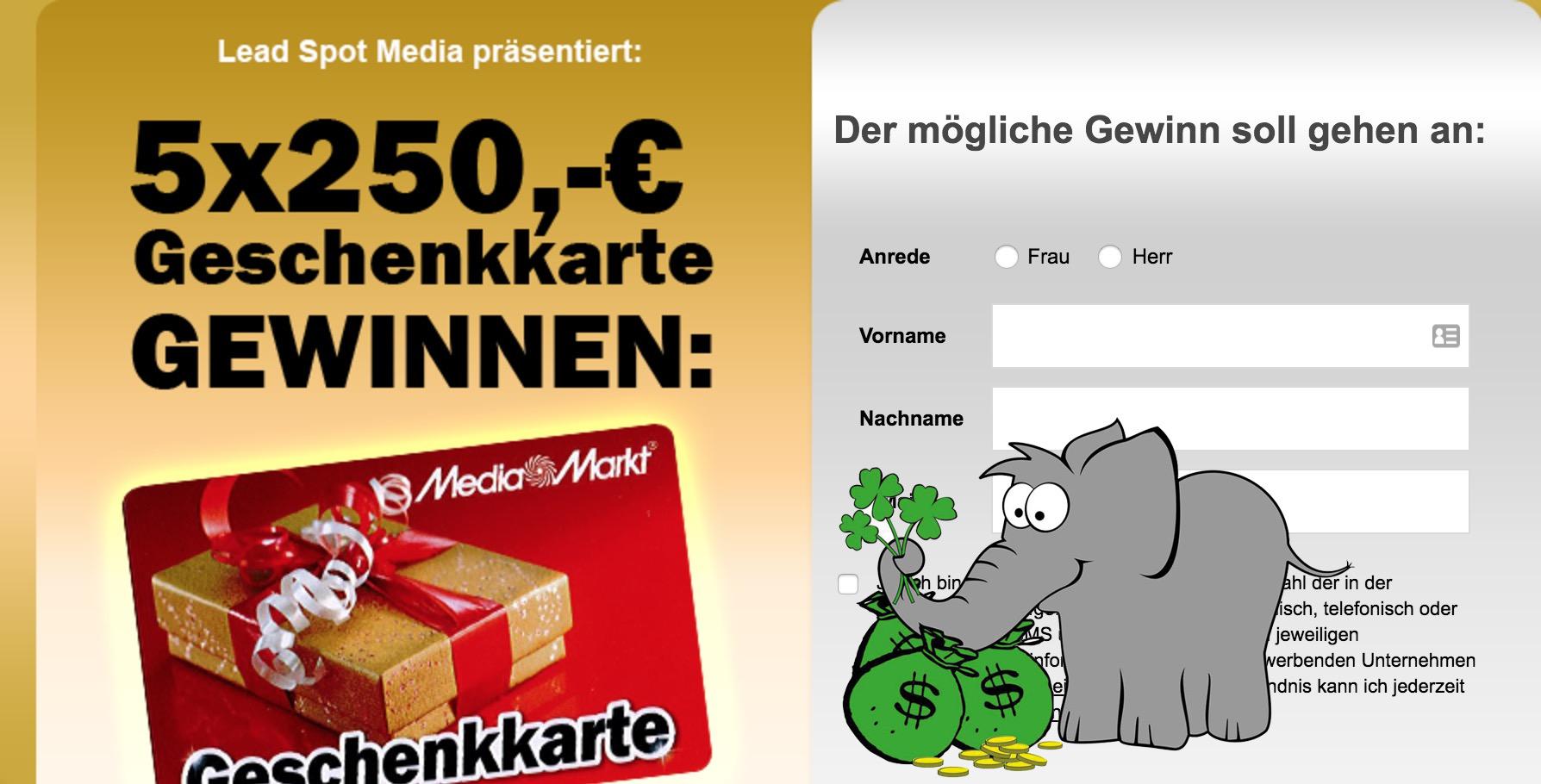 Media Markt Glücksrad Gewinnspiel