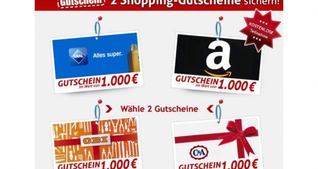 Shoppinggutscheine gewinnen Vorschau